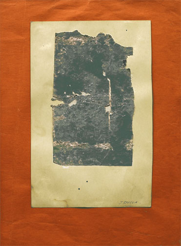 Untitled<br />1920<br />soiled paper collaged on paper mounted on colored paper<br />9 1/2 x 12 11/16 inches (24.1 x 32.2 cm)<br />