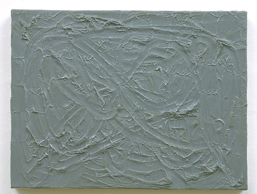GERHARD RICHTER<br /><i>Grau</i> [Gray]  (247-16)<br />1970<br />oil on canvas<br />12 x 15 7/8 inches (30.5 x 40.3 cm)<br />