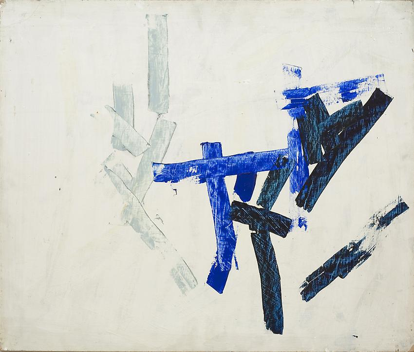Charlotte Posenenske<br />Untitled, 1959/ 1960<br />acrylic on hard fiber<br />21 5/8 x 25 5/8 inches<br />