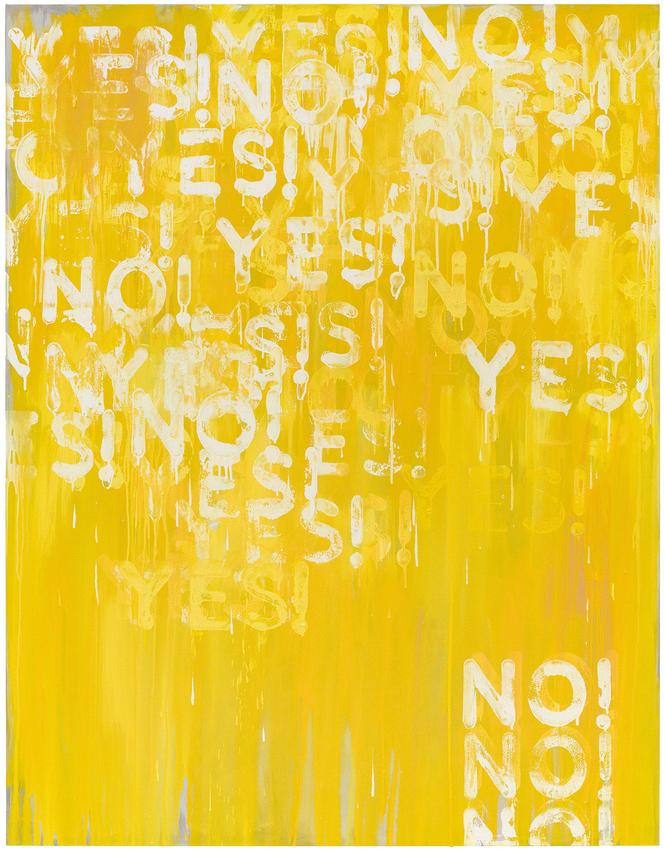 <i>Yes! No!</i><br />2016<br />oil on canvas<br />72 x 56 inches<br />  (182.9 x 142.2 cm)<br />PF4414<br />