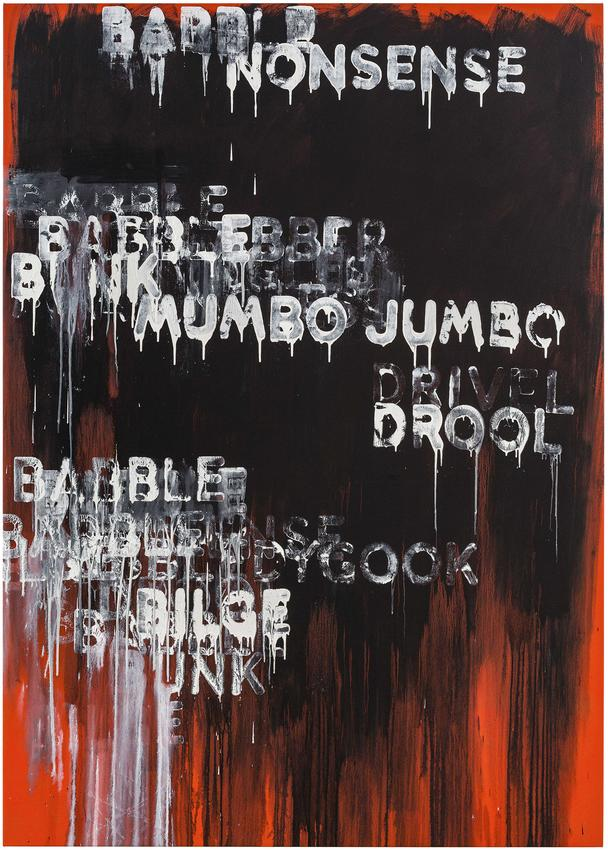 <i>Babble</i><br />2015<br />oil and acrylic on canvas<br />87 x 62 inches<br />  (221 x 157.5 cm)<br />PF4191<br />