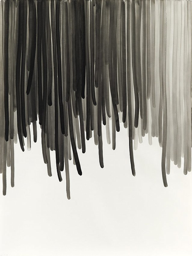 Silvia Bächli<br />Untitled 27<br />2007<br />gouache on paper<br />78 3/4 x 59 1/16 inches <br />  (200 x 150 cm)<br />