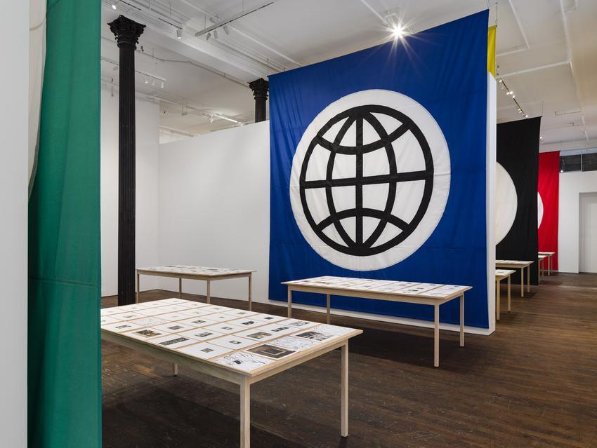 Installation view <i>Matt Mullican, Pantagraph</i> at Peter Freeman, Inc.<br />