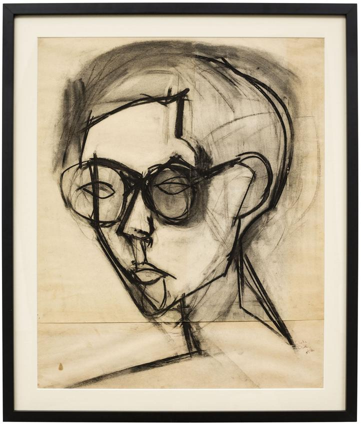 MILES FORST (1923 – 2006)<br /><br /><i>Portrait of Dick</i><br />1957<br />charcoal on paper<br />25 7/8 x 21 7/8 inches<br />  (65.7 x 55.6 cm)<br /><br />Private collection, New York<br />