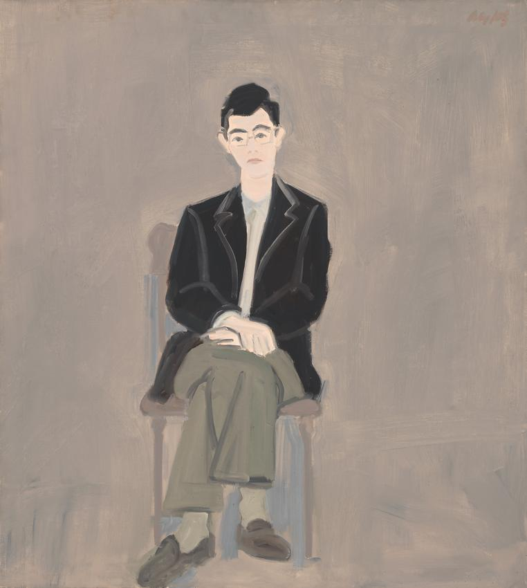 ALEX KATZ<br /><br /><i> Richard Bellamy </i><br />1960<br />oil on linen<br />40 x 35 7/8 inches<br />  (101.6 x 91.1 cm)<br /><br />Whitney Museum of American Art, New York; gift of Seymour Levine  61.36<br />© Alex Katz / Licensed by VAGA, New York<br />