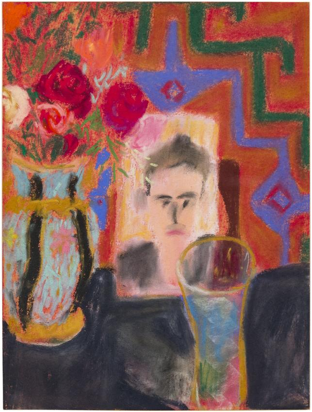 LUCAS SAMARAS<br /><br /><i>Untitled</i><br />July 16, 1961<br />pastel on paper<br />12 x 9 inches<br />  (30.5 x 22.9 cm)<br /><br />Courtesy Pace Gallery<br />