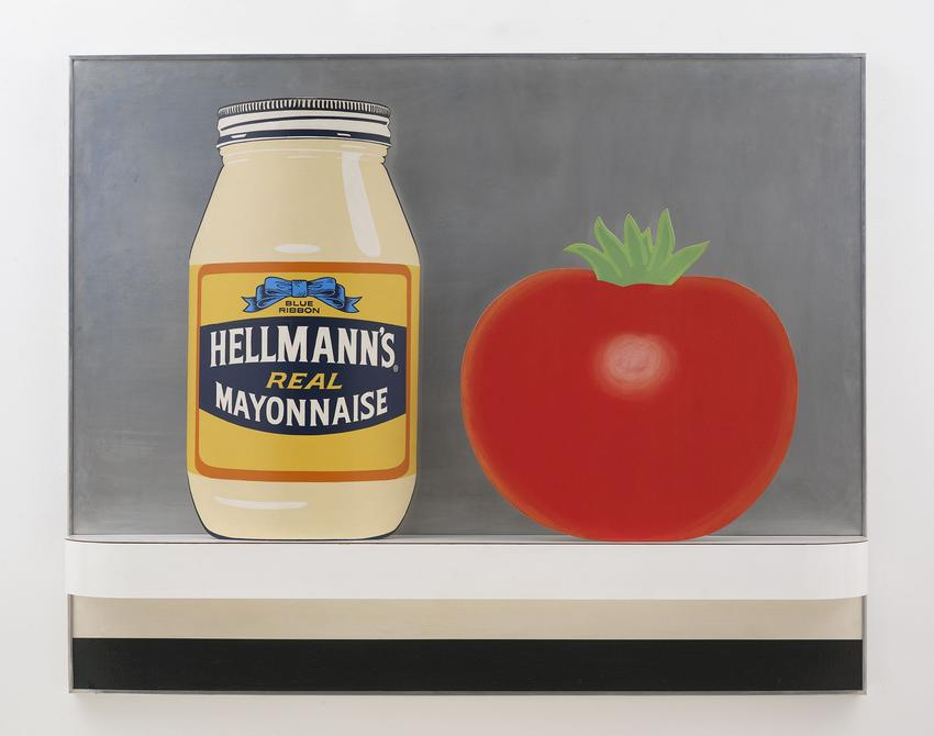 TOM WESSELMANN (1931 – 2004) <br /><br /><i>Still Life #48</i><br />1964<br />acrylic, collage, and assemblage on board<br />48 x 60 x 8 inches<br />  (121.9 x 152.4 x 20.3 cm)<br /><br />© The Estate of Tom Wesselmann / Licensed by VAGA, New York<br />