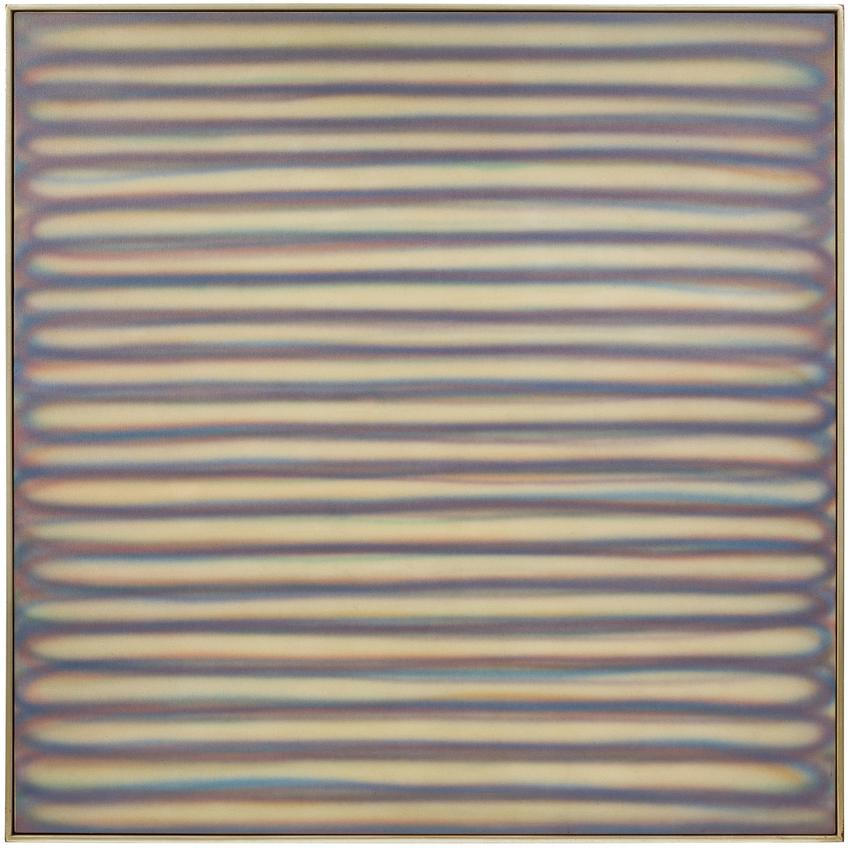 DAN CHRISTENSEN (1942 – 2007)<br /><br /><i>LS</i><br />1967<br />sprayed acrylic on canvas<br />70 x 70 inches <br />  (177.8 x 177.8 cm)<br /><br />Private collection, New York<br />