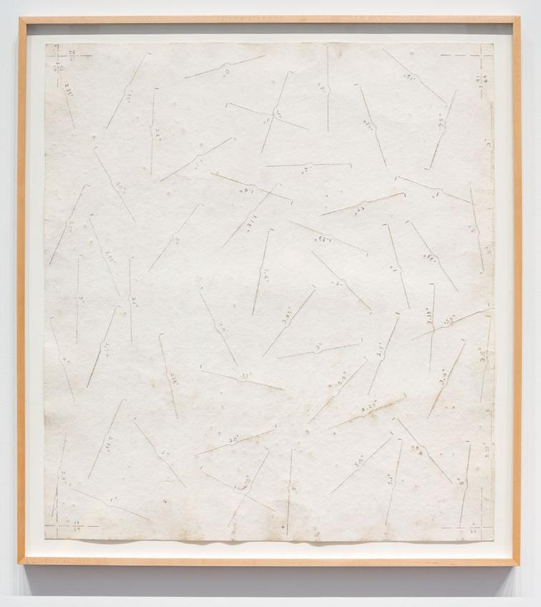 Ground Drawing<br />1968<br />graphite on filter paper<br />35 3/4 x 39 1/2 inches<br />(90.8 x 100.3 cm)<br />PF0716<br />