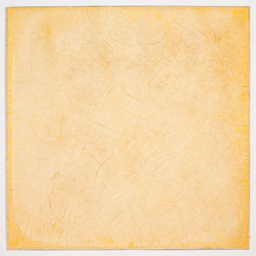 Sun Print<br />1968<br />yellow silkscreen ink on filter paper<br />29 x 29 inches<br />(73.7 x 73.7 cm)<br />PF3942<br />