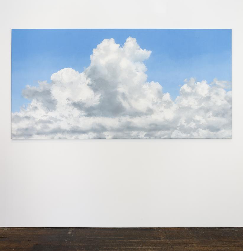 <B>Geoffrey Hendricks</B> (1931-2018)<br /><br /><I>Hommage to C.D. Friedrich</I><br />1983<br />acrylic on canvas<br />55 1/4 x 110 1/2 inches<br />  (140.3 x 280.7 cm)<br />PF5077<br />