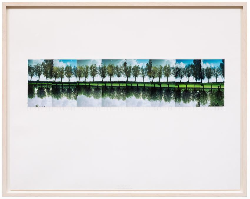 Jan Dibbets<br /><br /><i>A Very Dutch Landscape</i><br />1974<br />16 color photographs mounted on mat board with graphite and ink<br />26 3/8 x 33 1/2 inches<br />(67 x 85.1 cm)<br />PF3773<br />