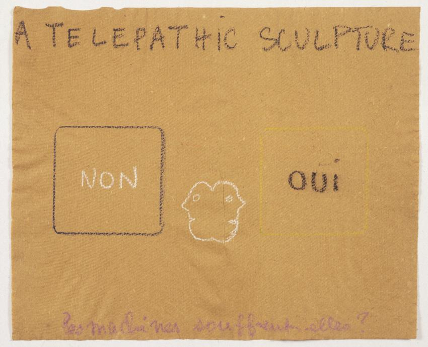 <i>A Telepathic Sculpture</i><br /><br />1975<br />pastel on paper<br />14 5/8 x 17 3/4 inches<br />  (37.1 x 45.1 cm)<br />PF2057<br />