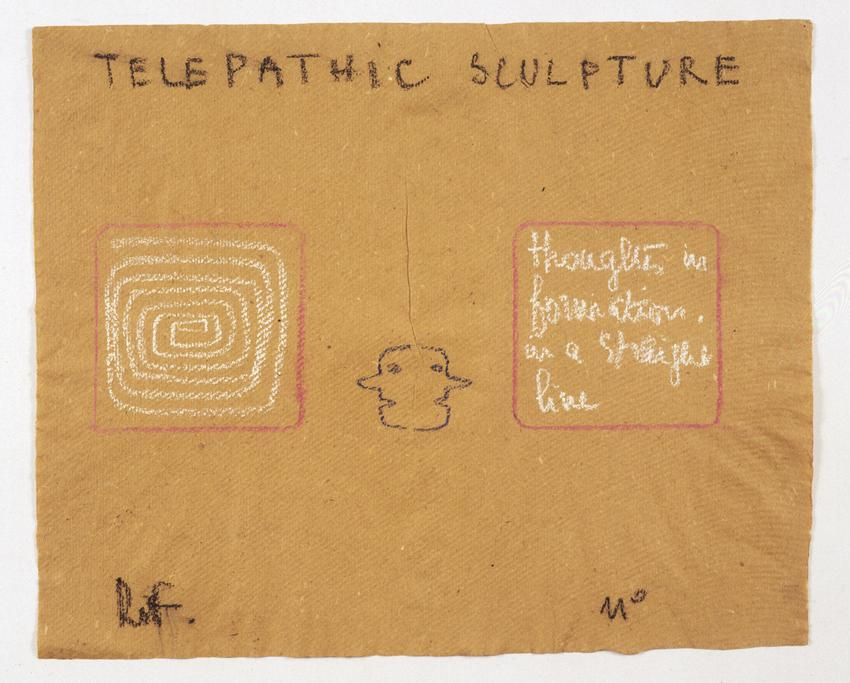 <i>Telepathic Sculpture</i><br /><br />1975<br />pastel on paper<br />14 1/2 x 17 3/4 inches<br />  (36.8 x 45.1 cm)<br />PF2056<br />