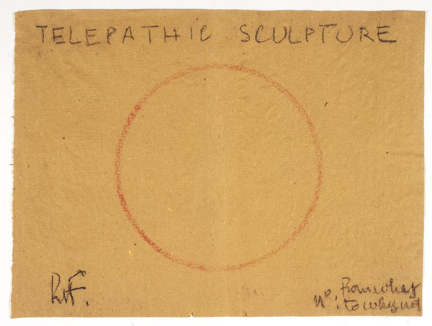 <i>Telepathic Sculpture</i><br /><br />1975<br />pastel on paper<br />17 3/4 x 23 5/8 inches<br />  (45 x 60 cm)<br />PF2058<br />