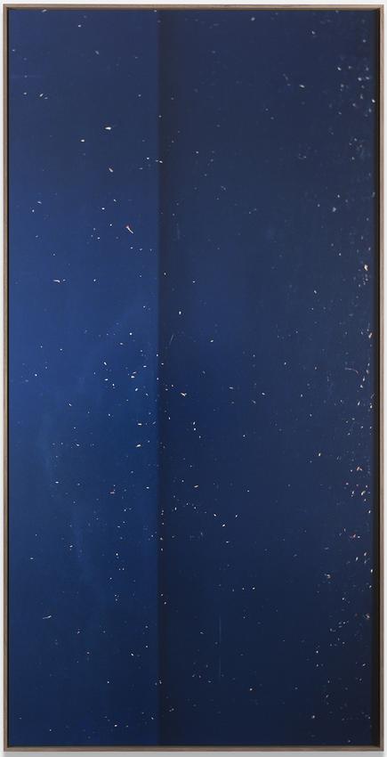 JAN DIBBETS<br /><br /><i>New Colorstudies - Dark Blue Vertical</i><br />1976/2012<br />Fujicolor Crystal archive paper DPII glued on Dibond<br />98 1/2 x 49 1/4 inches<br />  (250.2 x 125.1 cm)<br />Edition 2 of 2 + 1 AP<br />PF3602<br />