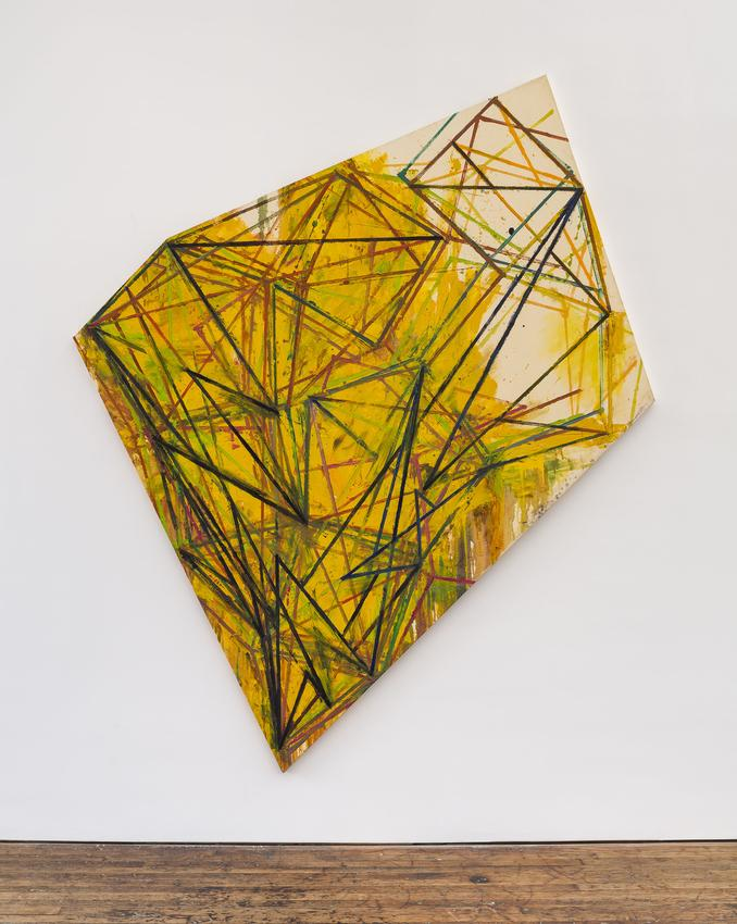 <u>Surge</u><br />1983<br />oil on sized canvas<br />110 1/2 x 92 inches (280.7 x 233.7 cm)<br />