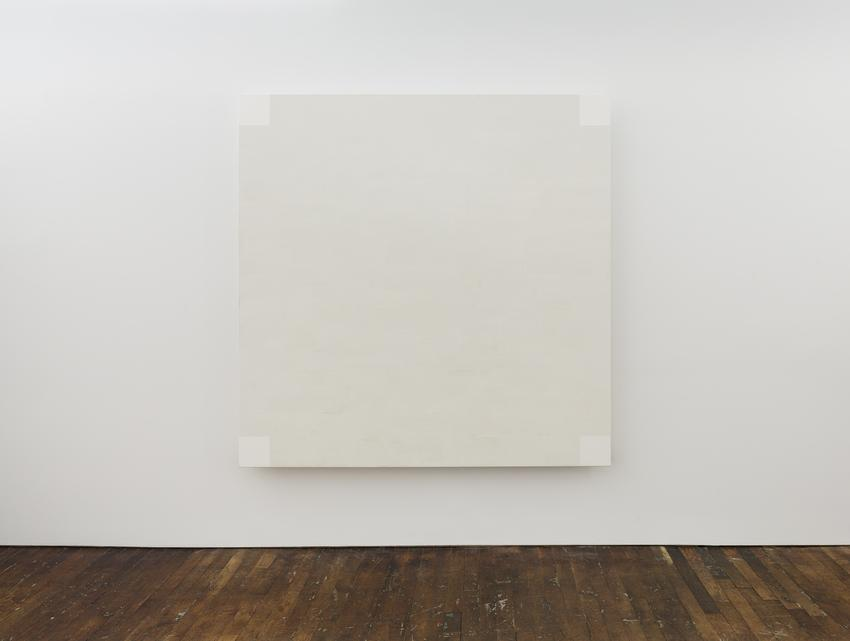 MARY CORSE<br /><br /><i>Untitled (White Light, Square Corners, Beveled)</i><br />1985<br />glass microspheres in acrylic on canvas<br />84 x 84 inches<br />  (213.4 x 213.4 cm)<br /><br />Courtesy the artist and Kayne Griffin Corcoran, Los Angeles<br />