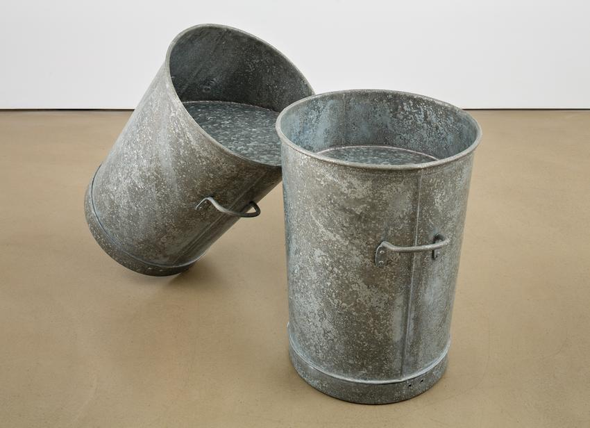 <u>Pent</u><br />1986<br />galvanized steel<br />33 1/2 x 15 1/2 x 17 1/2 inches<br />  (85.09 x 39.37 x 44.45 cm)<br />