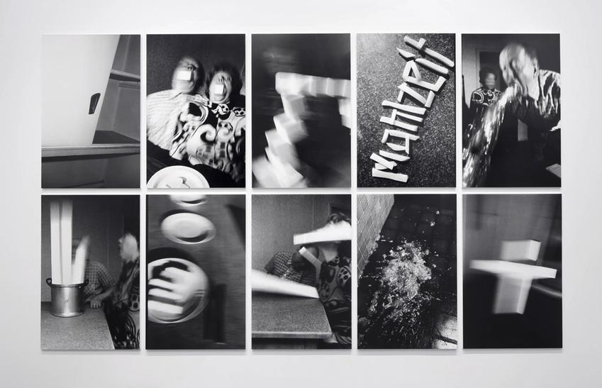 Mahlzeit<br />1989<br />ten gelatin silver prints mounted on foam core and Plexiglas<br />each: 49 5/8 x 31 15/16 inches<br />  (126 x 81.1 cm)<br />PF4177<br />