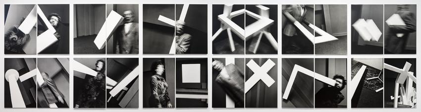 <u>Transzendentaler Konstrukt</u><br />1992/2016<br />24 gelatin silver prints mounted on foam core and Plexiglas<br />each: 49 5/8 x 31 15/16 inches<br />  (126 x 81.1 cm)<br />PF4180<br />