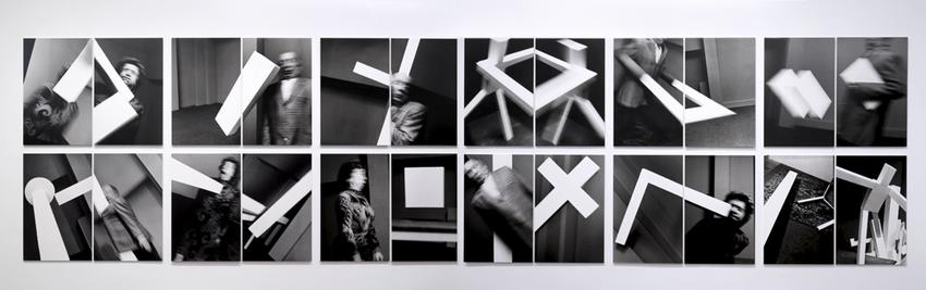 Transzendentaler Konstrukt<br />1992 / 2016<br />24 gelatin silver prints mounted on foam core and Plexiglas<br />each: 49 5/8 x 31 15/16 inches<br />  (126 x 81.1 cm)<br />PF4180<br />