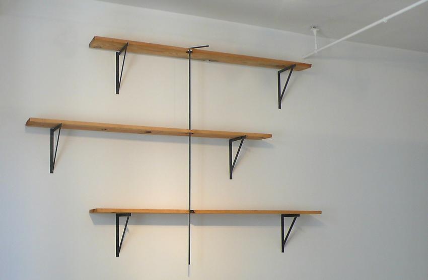 Richard Wentworth<br />Set/Match<br />2010<br />pine and steel<br />70 x 101 x 13 1/4 inches<br />  (177.8 x 256.5 x 33.6 cm)<br />