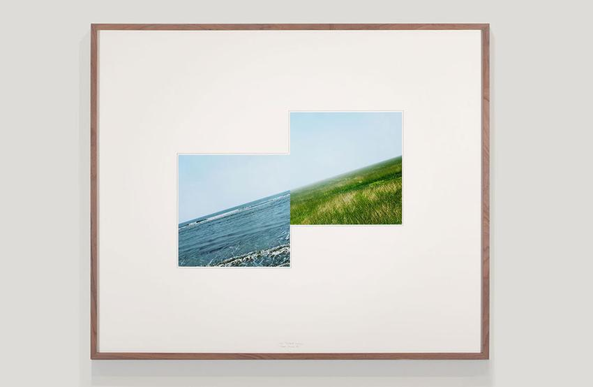 <u>Sectio Aurea B2</u><br />2007<br />two unique color photographs mounted on mat board with graphite<br />Framed: 35 1/2 x 42 1/8 inches (90.2 x 107 cm)<br />