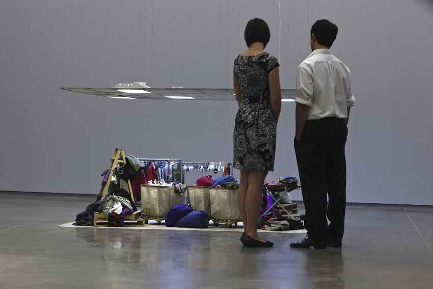 <u>Mens Suits</u><br />Installation view at the ICA Boston, 2010<br />