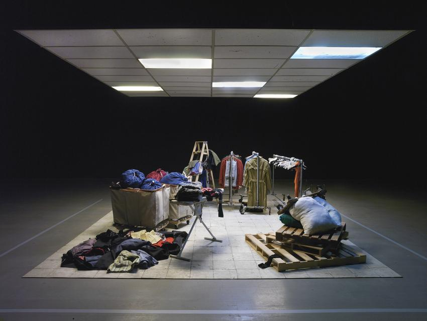 <u>Mens Suits</u><br />Installation view at The Bass Museum of Art, Miami, 2012<br />