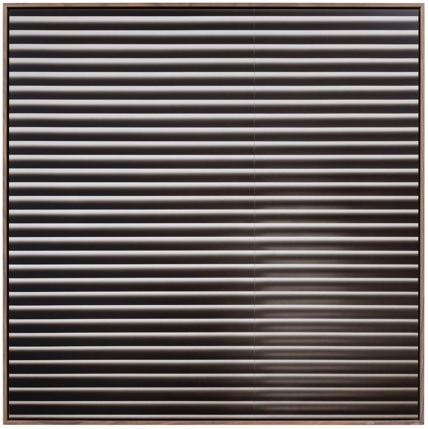 "<u>Venetian Blinds ""Sepia Black""</u><br />1971/2013<br />Fujicolor Crystal archive paper DPII glued on Dibond<br />49 1/4 x 49 1/4 inches <br />  (125 x 125 cm)<br />"
