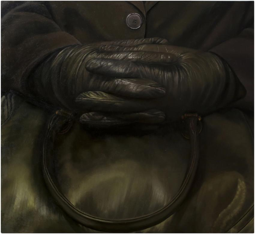 <u>Clasped</u><br />2013<br />oil on canvas<br />46 x 49 inches (116.84 x 124.46 cm)<br />
