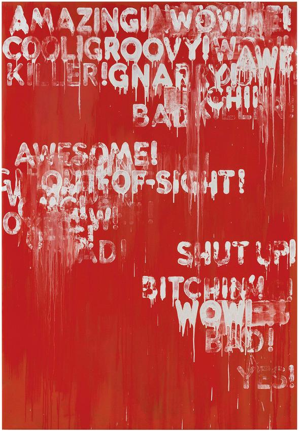 MEL BOCHNER<br /><i>Amazing!</i><br />2015<br />oil and acrylic on canvas<br />90 x 62 inches<br />  (228.6 x 157.5 cm)<br />PF4099<br />