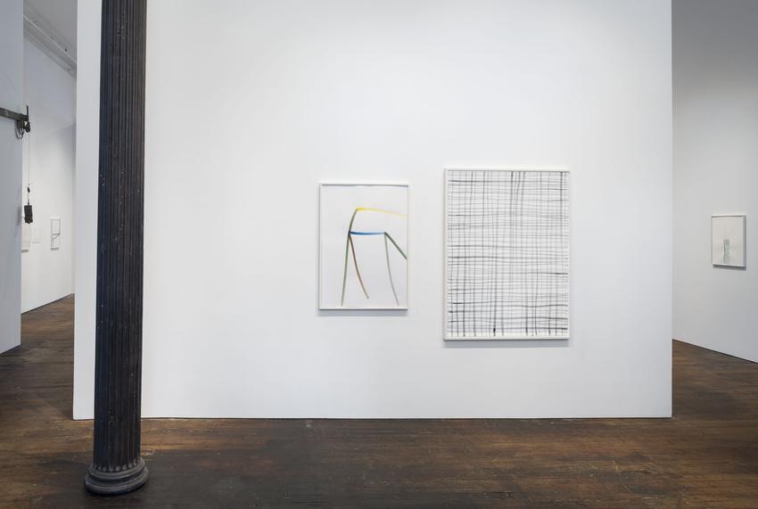 Silvia Bächli<br />Untitled<br />2014<br />gouache on paper<br />102 x 72 cm<br />PF3719<br /><br />and<br /><br />Untitled<br />2014<br />gouache on paper<br />140.7 x 106 cm<br />PF3710<br />