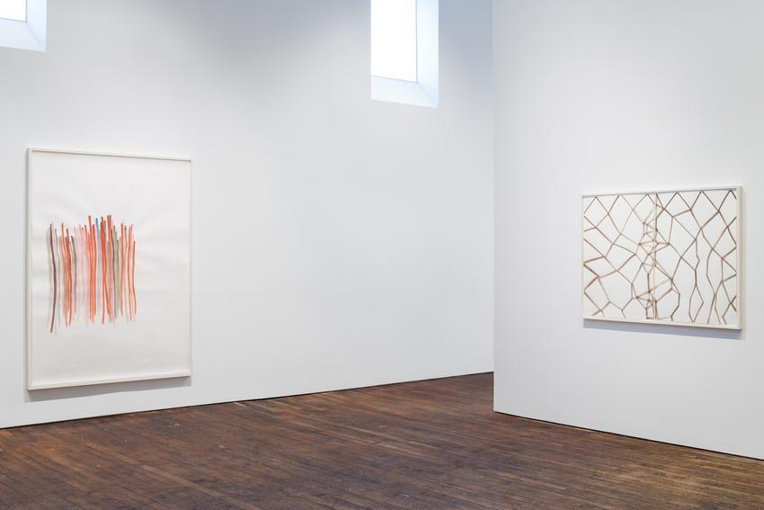 Silvia Bächli<br />Installation view<br />Peter Freeman, Inc.<br />September 2015<br />