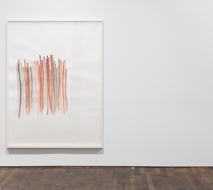 Silvia Bächli<br />Untitled<br />2015<br />gouache on paper<br />200 x 150 cm<br />PF3716<br />