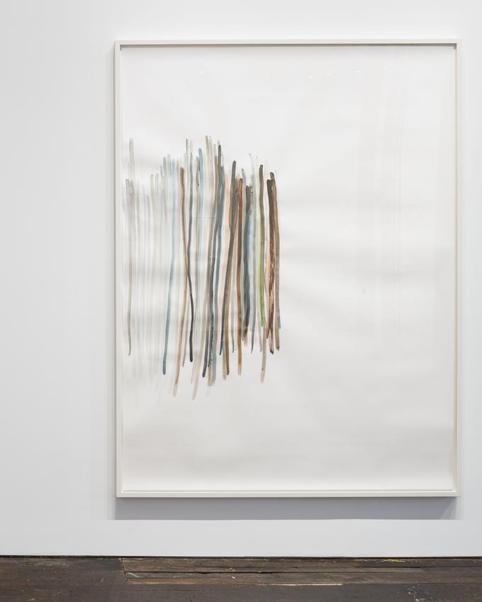 Silvia Bächli<br /><br />Untitled<br />2015<br />gouache on paper<br />200 x 150 cm<br />PF3722<br />