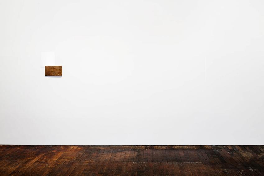 Fernanda Gomes<br /><u>Untitled</u>, 2015<br />wood, plexiglass<br />19 x 3/4 x 16 7/8 x 13/16 inches<br />  (50.2 x 42.9 x 2.1 cm)<br /><br />Fernanda Gomes<br /><u>Untitled</u>, 2015<br />paint, graphite<br />19 x 7/16 x 17 1/2 x 1/8 inches<br />  (49.4 x 44.5 x .3 cm)<br />