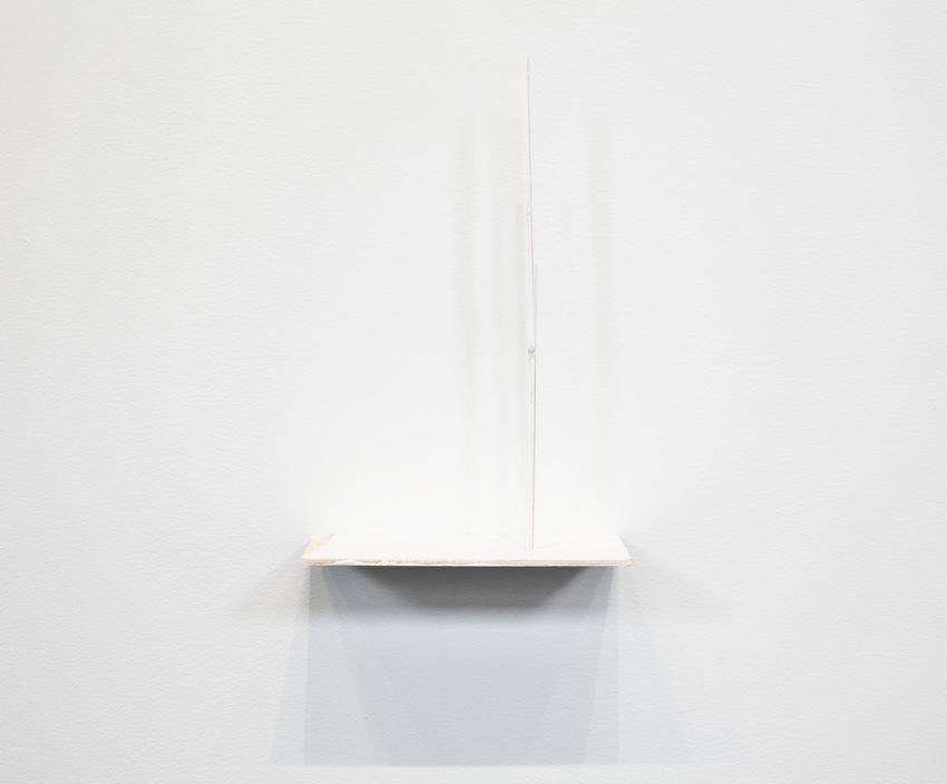 Fernanda Gomes<br /><u>Untitled</u>, 2015<br />balsa wood, paint, pins<br />10 3/4 x 6 15/16 x 3 1/16 inches<br />  (27.3 x 17.6 x 7.8 cm)<br />