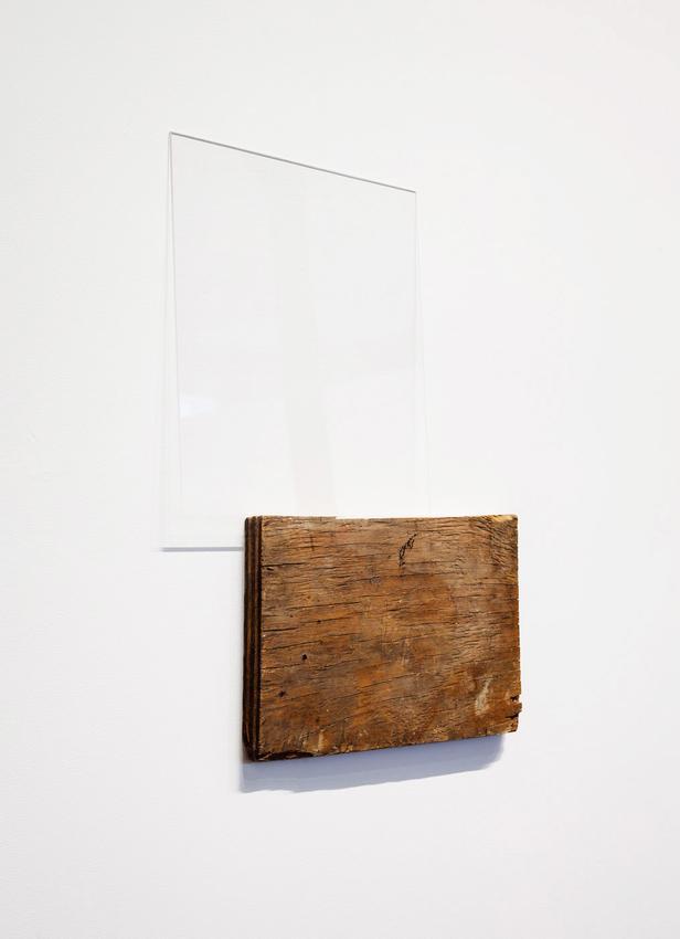 Fernanda Gomes<br /><u>Untitled</u>, 2015<br />wood, plexiglass<br />19 x 3/4 x 16 7/8 x 13/16 inches<br />  (50.2 x 42.9 x 2.1 cm)<br />