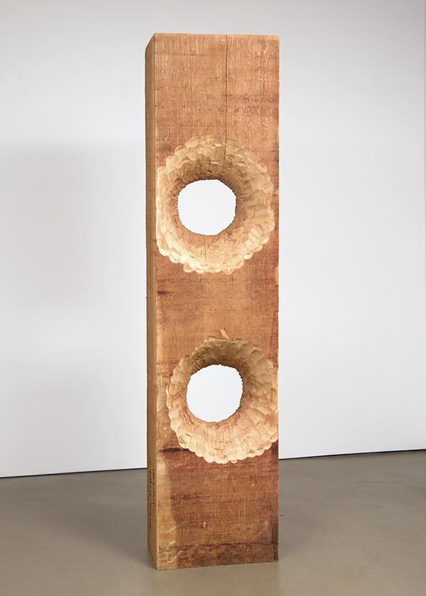 DAVID ADAMO<br /><br />Untitled<br />2016<br />western red cedar<br />85 1/4 x 19 3/4 x 12 inches (216.5 x 50.2 x 30.5 cm)<br />