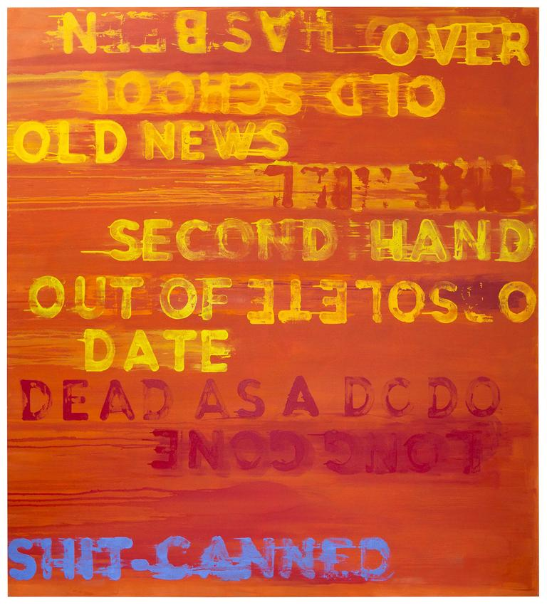 MEL BOCHNER<br /><i>Dead As A Dodo</i><br />2016<br />oil on canvas<br />86 x 78 1/8 inches<br />  (218.4 x 198.4 cm)<br />PF4343<br />