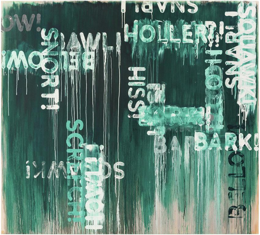 MEL BOCHNER<br /><i>Howl!</i><br />2016<br />oil on canvas<br />78 x 86 inches<br />  (198.1 x 218.4 cm)<br />PF4283<br />