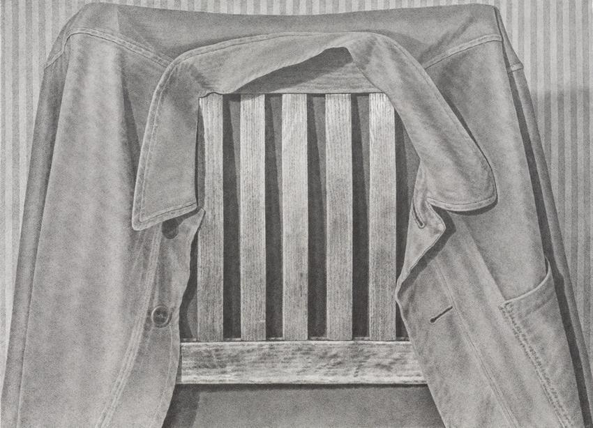 <u>Chairback</u><br />2016<br />graphite on paper<br />26 3/4 x 36 5/8 inches (67.9 x 93 cm)<br />
