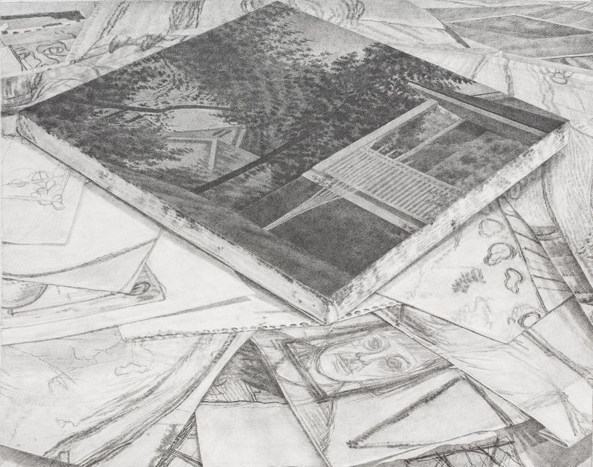 <u>Flat Space</u><br />2016<br />graphite on paper<br />24 x 30 1/2 inches (61 x 77.5 cm)<br />