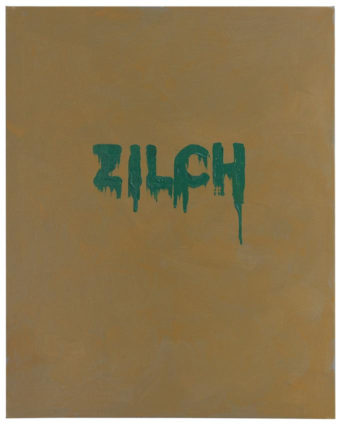 <i>Zilch</i><br />2016<br />oil and acrylic on canvas<br />30 x 24 inches<br />  (76.2 x 61 cm)<br />PF4565<br />