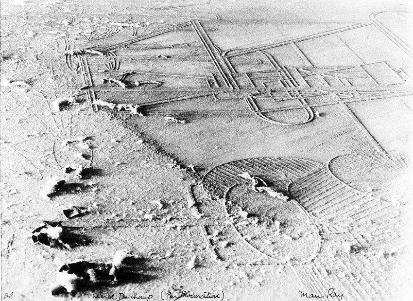 MAN RAY<br />Elevage de Poussière (Dust Breeding)<br />1920 / printed 1968-69<br />gelatin-silver print<br />8-3/4 x 11-7/8 inches (22.22 x 30.16 cm)<br />