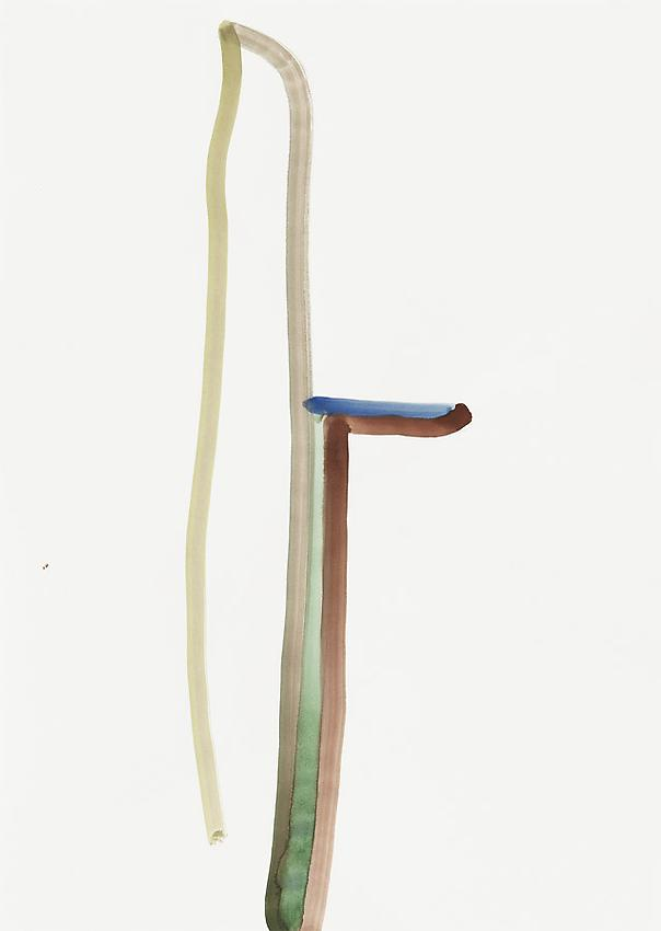 Silvia Bächli<br />Untitled<br />2010<br />gouache on paper<br />24 3/8 x 17 3/8 inches (62 x 44 cm) <br />PF1975<br />