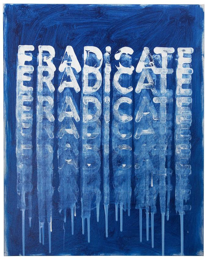 <i>Eradicate</i><br />2016<br />oil on canvas<br />30 x 24 inches<br />  (76.2 x 61 cm)<br />PF4519<br />