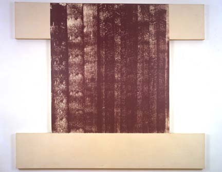 MICHAEL HEIZER<br /><br /><i>Untitled</i> (Violet)<br />1967-80<br />polyvinyl latex on canvas<br />84 x 96 inches (213.4 x 243.8 cm)<br />